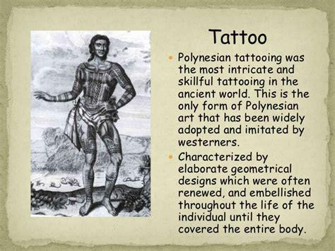 tattoo history ppt polynesian art ppt
