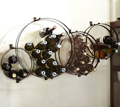 Pottery Barn Wine Rack Wall by Sculptural Circles Wall Mount Metal Wine Rack