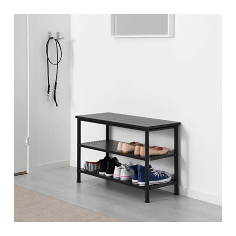 shoe bench ikea pinnig bench with shoe storage black 79 cm ikea