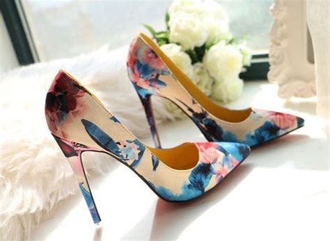 flower shoes with heels 2016 trend floral heels for your 187