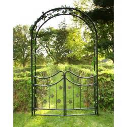 Metal Trellis For Sale Tierra Derco Bacchus 7 75 Ft Iron Arch Arbor With Gate