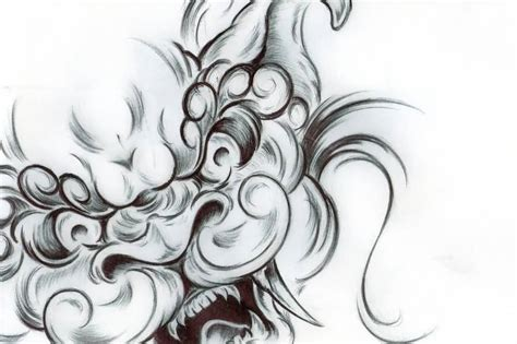 foo dog tattoo design karajishi botan foo design by deutschland2