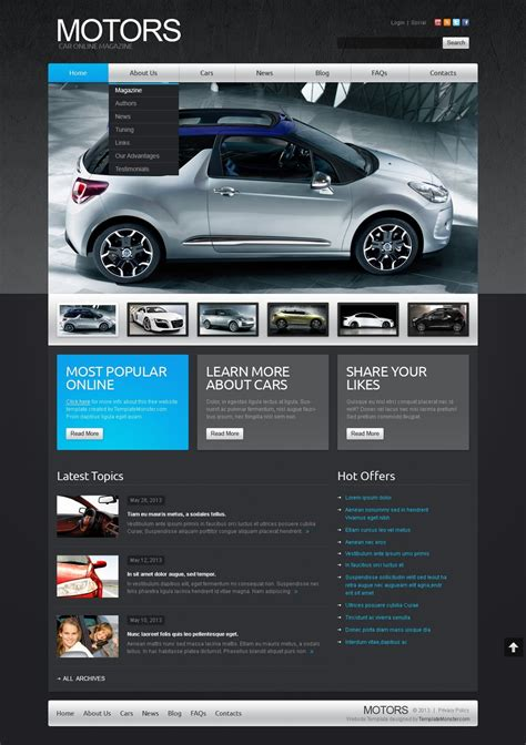 free joomla car template