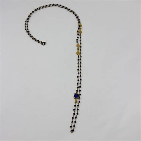 40 inch lapis bead necklace worth gold silver