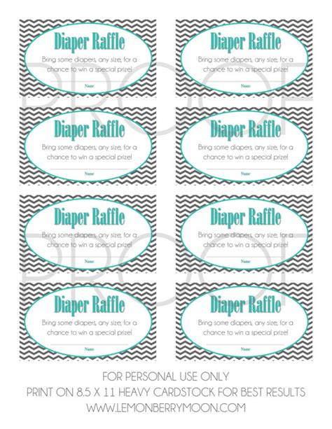 Free Printable Baby Shower Raffle Tickets by Raffle Tickets Printable Baby Shower Instant