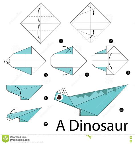 How To Make A Origami Dinosaur Step By Step - step by step how to make origami a dinosaur