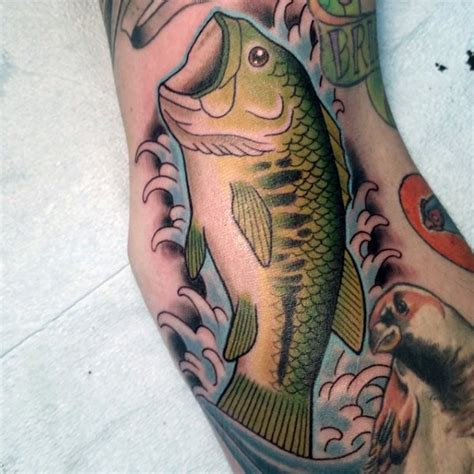 tattoo old school fish old school style painted and colored fish tattoo on arm