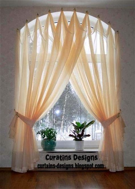 curtains for arch window curtain designs