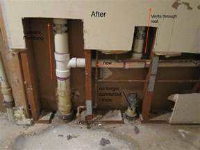 plumbing alteration has created vacuum in upstairs toilets