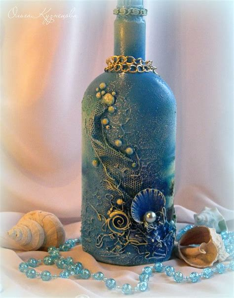 Decoupage Bottle - decoupage bottle