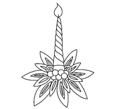 imagenes de velas navideñas para dibujar coloriage de bougie ii pour colorier