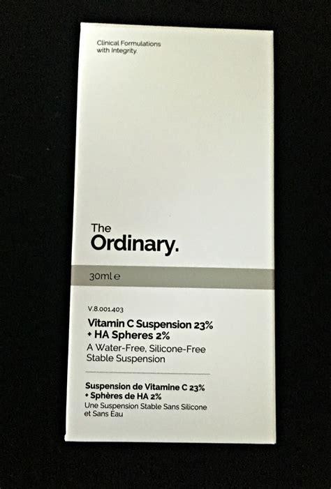 The Ordinary Vitamin C Suspension 23 Ha Spheres 2 30ml Sp theordinary vitc1 a brash attitude