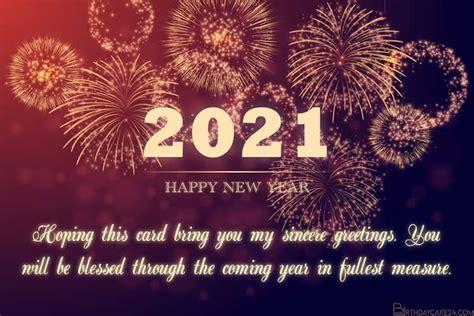sparkling fireworks  year greeting card