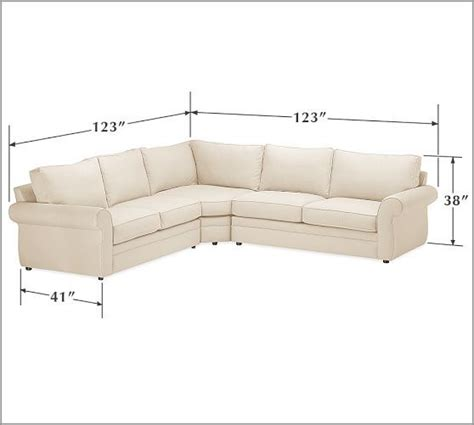 pottery barn l shaped couch pearce upholstered 3 piece l shaped sectional with wedge
