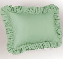 solid ruffled pillow sham ebay