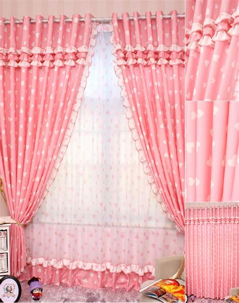 pink bedroom curtains pink curtains with sweetheart pattern princess