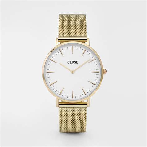 Cluse Watches La Boh Me Mesh Gold Black Black cluse la boh 232 me mesh gold white cl18109