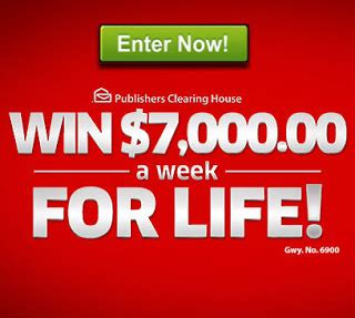 house of sweepstakes pch win 1 million superprize giveaway - Pch 7 000 A Week For Life