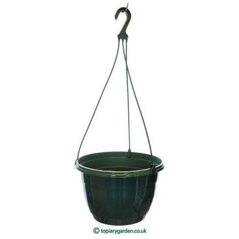 hanging pot 5 x pine green plastic teku hanging plant pots baskets