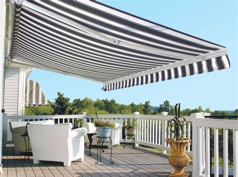 retractable awning for deck control sun and shade with a retractable awning for your