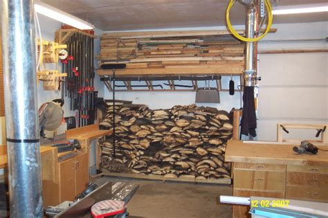 Storing Firewood In Garage by Garage Shop