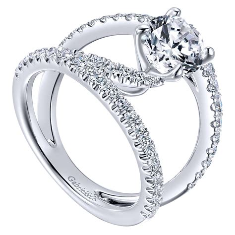 gabriel co engagement rings 14k white gold