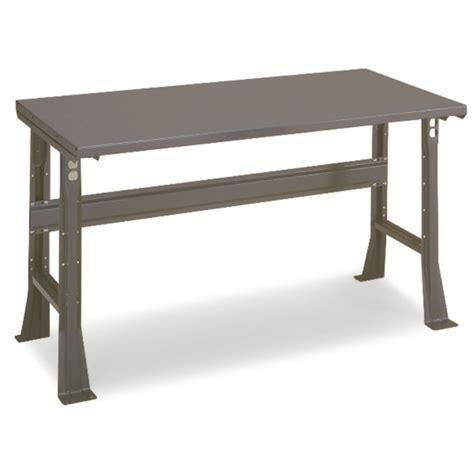 adjustable work bench workbench 48x30 quot steel top adjustable legs
