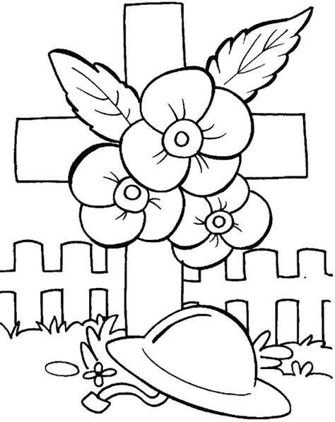 remembering the unknown soldiers coloring pages download