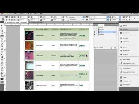 creating indesign tables indesign tables youtube