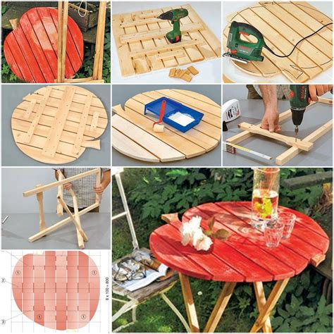 how to make a backyard how to make garden folding table step by step diy tutorial