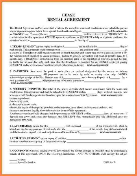 printable lease purchase agreement 9 online lease agreement for renting a house purchase