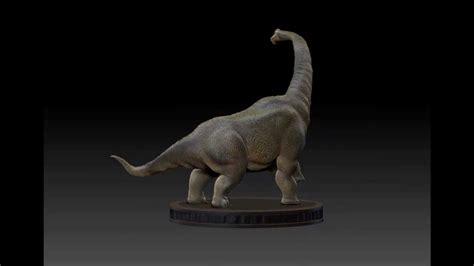 How To Make A 3d Dinosaur Out Of Paper - dinosaur brachiosaurus 3d model turntable