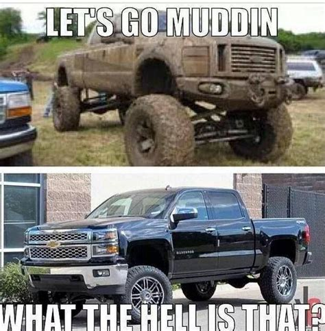 Ford Vs Chevy Meme - chevy jokes on twitter quot let s go mudding http t co
