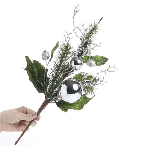 christmas artificial evergreen spray picks and stems