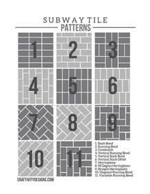 Subway Tile Patterns 50 subway tile ideas free tile pattern template