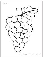 grapes coloring pages to print gallery for gt grape coloring page