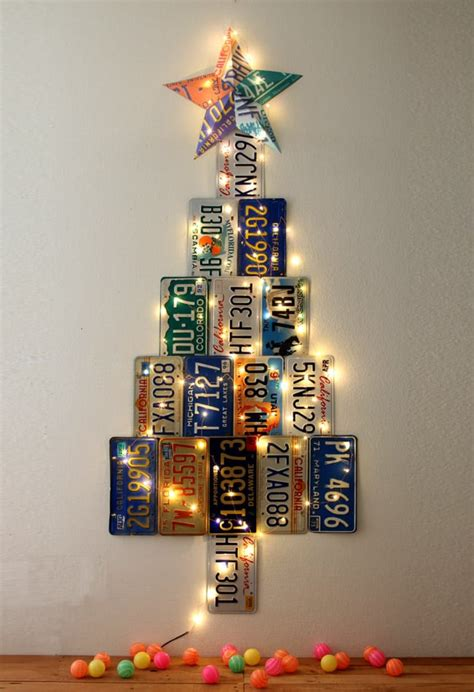 license plate christmas tree a piece of rainbow