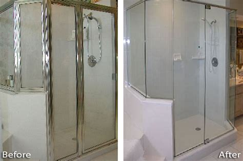 Shower After by Before After Gallery The Shower Door Place