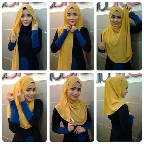 tutorial halfmoon qaira hijab 17 best images about cover me pretty on pinterest
