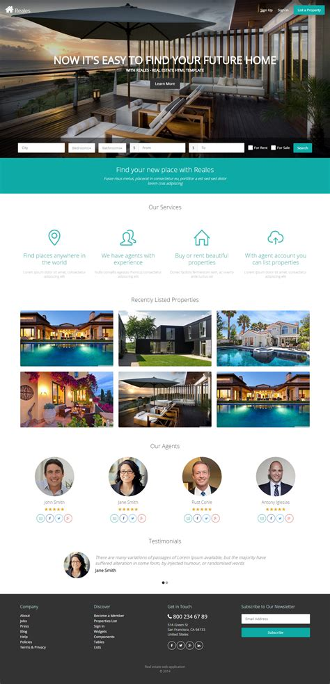 25 Best Real Estate Website Templates 2017 Responsive Miracle Best Real Estate Web Templates
