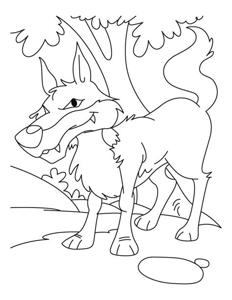 Red Red Wolf Coloring Pages Boy Who Cried Wolf Coloring Page Printable
