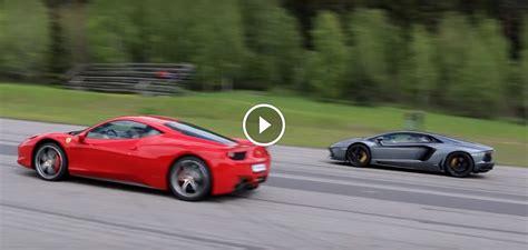 458 Vs Lamborghini 458 Vs Lamborghini Aventador Rolling Italian Race
