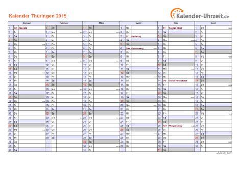 Kalender 2015 Feiertage Feiertage 2015 Th 252 Ringen Kalender