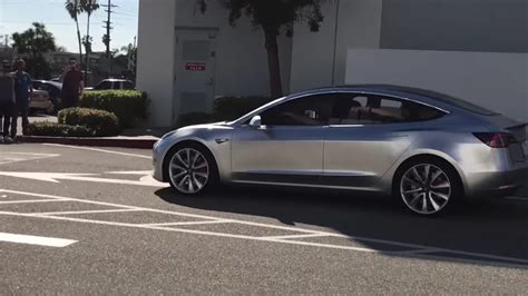 Tesla Hawthorne Tesla Model 3 Alpha Prototype Spotted Cruising In