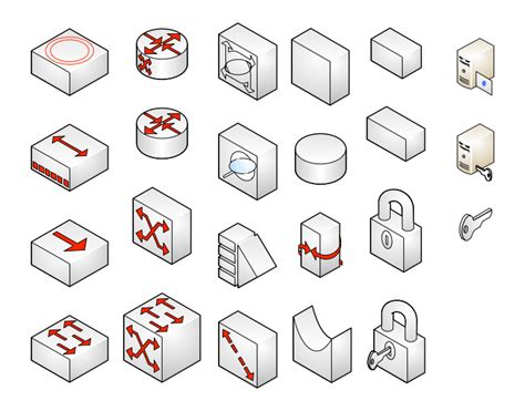 visio isometric shapes server icon visio images