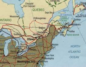 northeast canada map map of eastern united states and canada