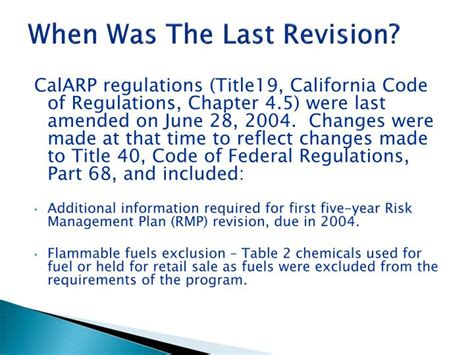 40 cfr part 68 section 112 r ppt california accidental release prevention calarp