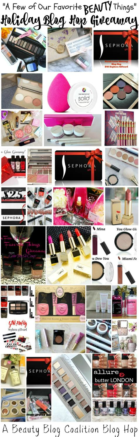 Giveaway Hop - quot a few of our favorite beauty things quot blog hop giveaway