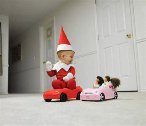 dad turns baby into elf on the shelf usa today dad turns baby into real life elf on the shelf barnorama