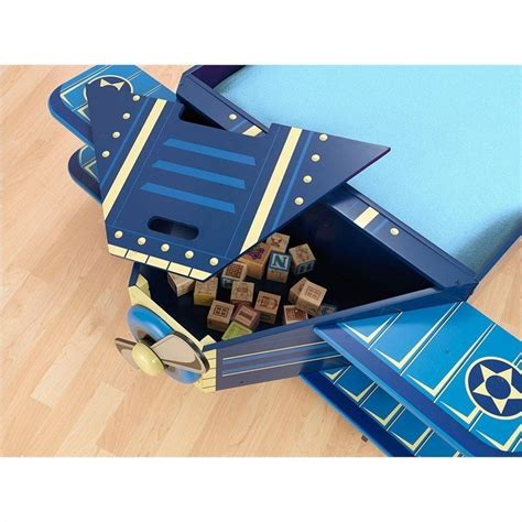 Airplane Toddler Bed by Kidkraft Airplane Toddler Bed In Blue 76269